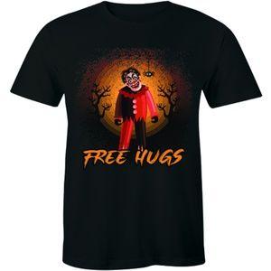 Free Hugs Scary Horror Clown Halloween T-shirt Tee